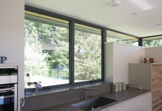 Alitherm 300 Aluminium Windows In Kitchen