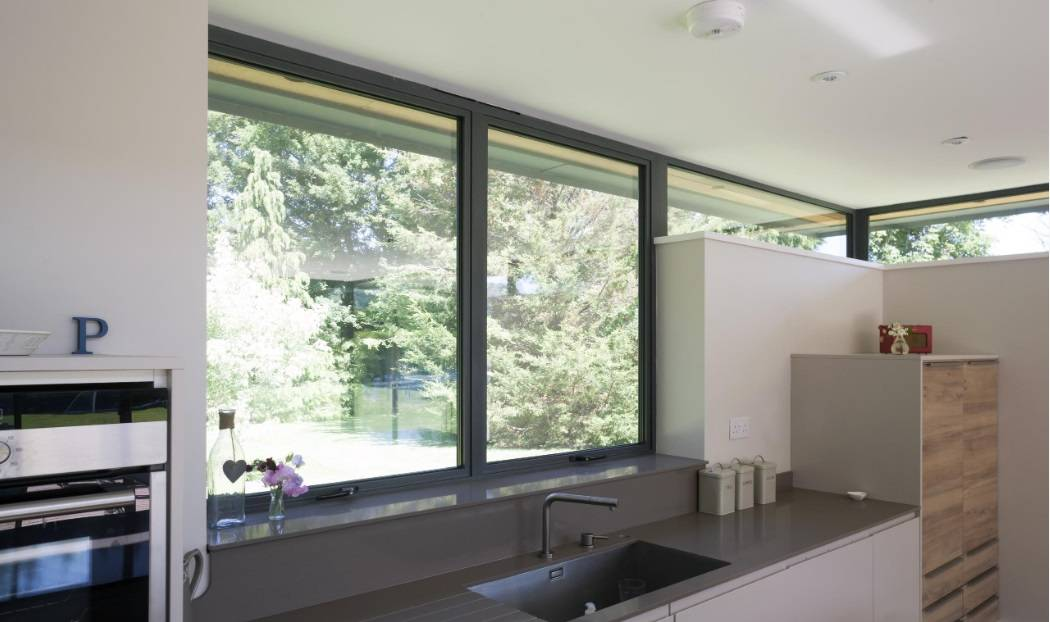 Alitherm 300 Aluminium Windows In Kitchen