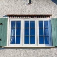 Flush Casement UPVC windows with shutters