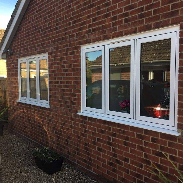 UPVC Flush Casement Windows Outside