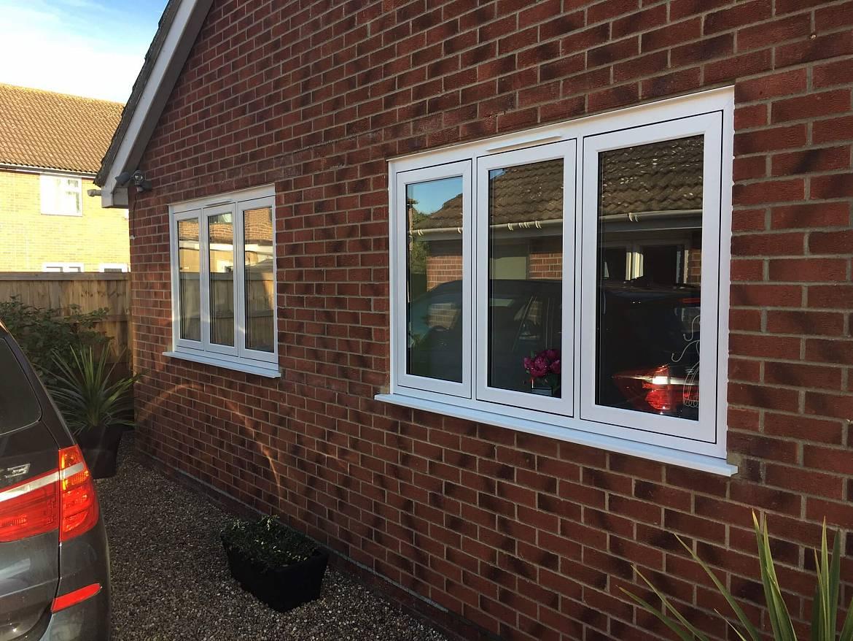 UPVC Flush Casement Windows Outside