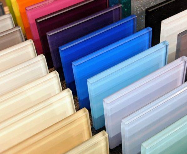 Glass Splashback Samples in Shropshire