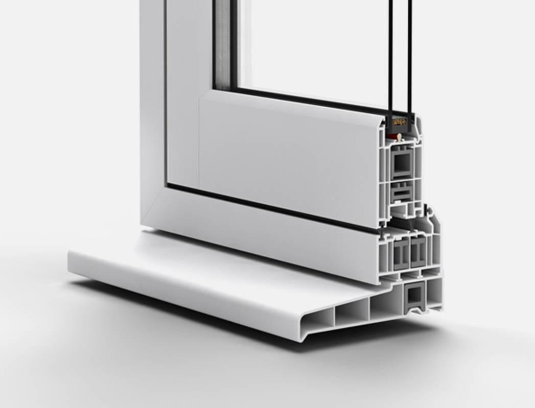 Cross Section Of Flush Casement uPVC window