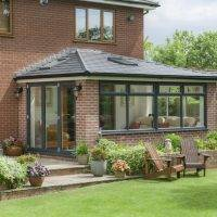 Warmroof attached to an orangery