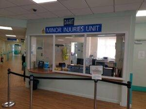 Glass panels installed at minor injuries unit