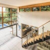Atrium With Timber Windows